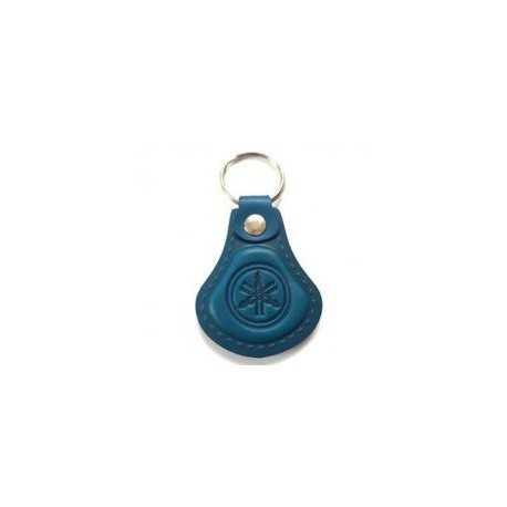 Kožená kľúčenka Yamaha modrá