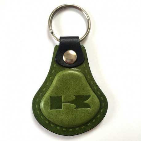 Kožená kľúčenka Kawasaki zelená