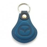 Kožená kľúčenka Mazda modrá