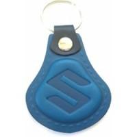Kožená kľúčenka Suzuki modrá