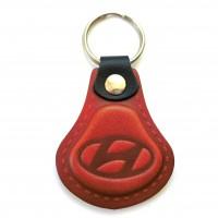Kožená kľúčenka Hyundai červená
