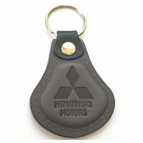 Kožená kľúčenka Mitsubishi šedá