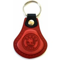 Kožená kľúčenka / prívesok na kľúče Škoda červená