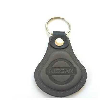 Kožená kľúčenka Nissan šedá