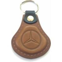 Kožená kľúčenka Mercedes hnedá