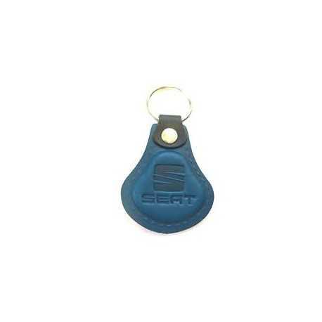 Kožená kľúčenka / prívesok na kľúče Seat modrá