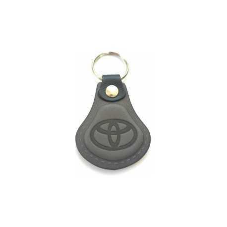 Kožená kľúčenka Toyota šedá