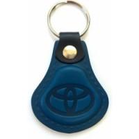 Kožená kľúčenka Toyota modrá