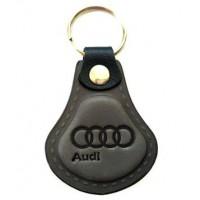 Kožená kľúčenka / prívesok na kľúče Audi šedá