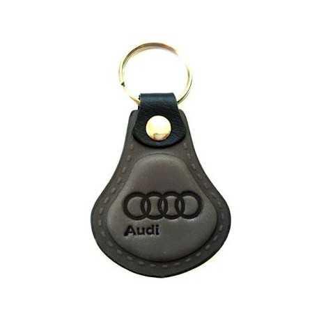 Kožená kľúčenka Audi šedá