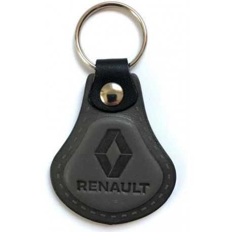 Kožená kľúčenka Renault šedá