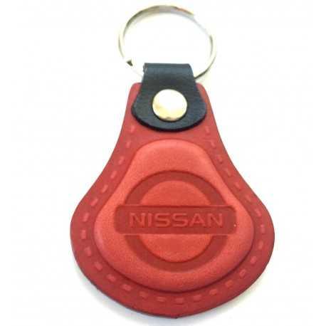 Kožená kľúčenka Nissan červená