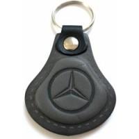 Kožená kľúčenka Mercedes šedá