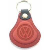 Kožená kľúčenka / prívesok na kľúče Volkswagen červená