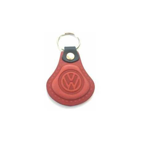 Kožená kľúčenka Volkswagen červená
