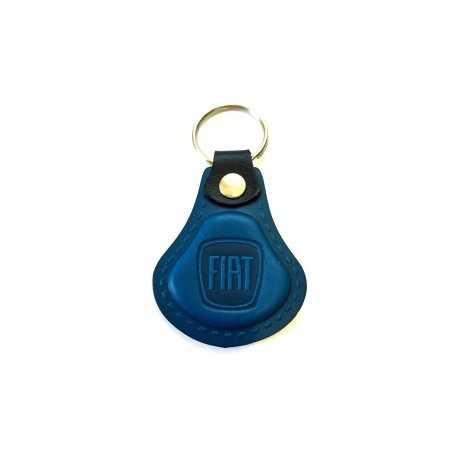 Kožená kľúčenka Fiat modrá