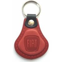 Kožená kľúčenka Fiat červená