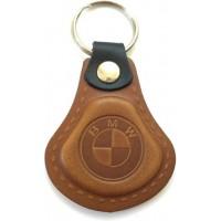 Kožená kľúčenka BMW hnedá
