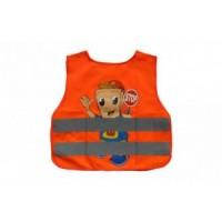 Vesta reflexná - detská CHLAPEC - oranžová
