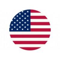 Samolepka na stredy kolies živicová 4ks - USA VLAJKA (C13)