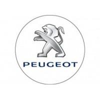 Samolepka na stredy kolies živicová 4ks - PEUGEOT - biele (C13)