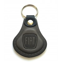 Kožená kľúčenka Fiat šedá
