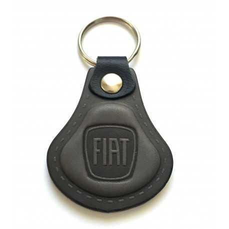 Kožená kľúčenka / prívesok na kľúče Fiat šedá