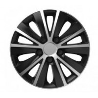 Puklice 13 Rapide silver/black VERSACO, 4ks