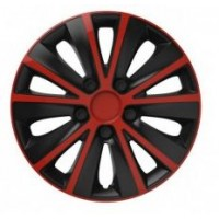 Puklice 14 Rapide red&black VERSACO, 4ks