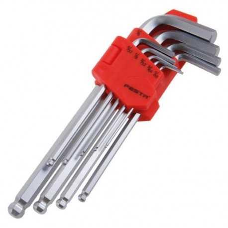 Sada imbusových kľúčov s hlavičkou, palcové FESTA 18493