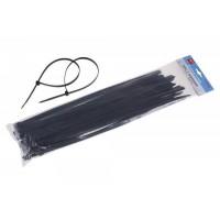 Viazacie pásky čierne 400x7,6mm 50ks LEVIOR / 23828