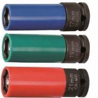 Hlavica na elektróny 1/2 19mm kovaná JONNESWAY / S18A4119M