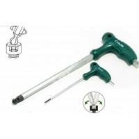 Kľúč imb s guličkou 2x100 s PVC rukoväťou JONNESWAY / H10MB2100