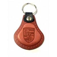 Kožená kľúčenka Porsche červená