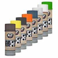 K2 COLOR FLEX 400ml Čierny matný - syntetický kaučuk