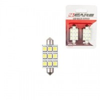 4CARS LED ŽIAROVKA 9LED 12V FESTOON 5050SMD T11X44MM