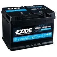 Exide AGM 12V 80Ah 800A EK800