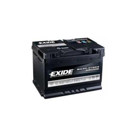 Exide ECM 60Ah/12V (EL 600) 540A