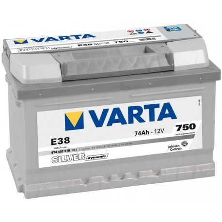 VARTA SILVER 12V/74Ah (E38)