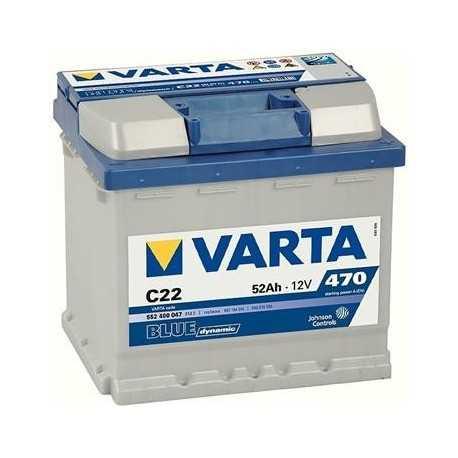VARTA BLUE 12V/52Ah (C22)