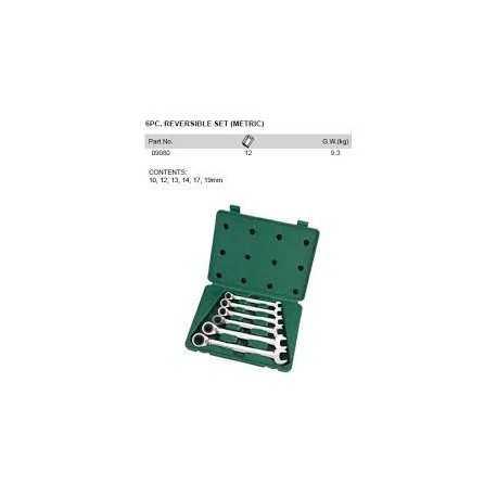 Sada kľúčov 6- dielná vydlica / očko s račňou SATA
