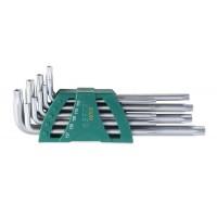 Sada kľúčov TORX / TRX 9 diel. Extra predĺžených s otvorom SATA 9702