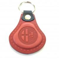 Kožená kľúčenka Alfa Romeo červená