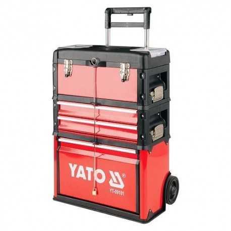 Vozík na náradie 3 sekcie, 2 zásuvky, YATO-09101