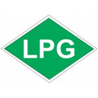 "Označenie "" LPG "" samolepka"