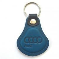 Kožená kľúčenka Audi modrá