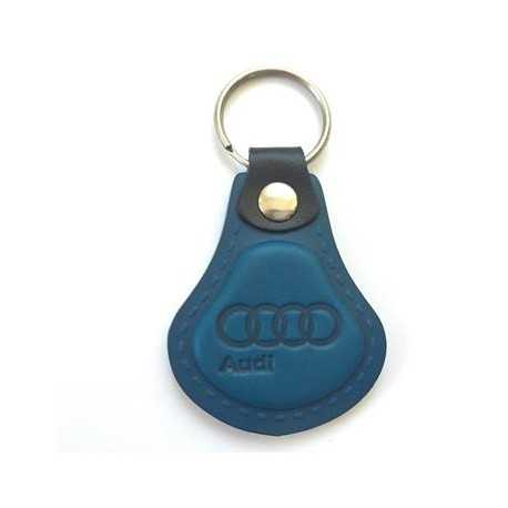 Kožená kľúčenka / prívesok na kľúče Audi modrá