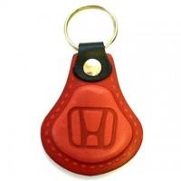 Kožená kľúčenka Honda červená