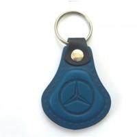 Kožená kľúčenka Mercedes modrá