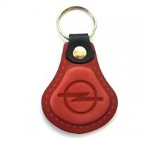 Kožená kľúčenka Opel červená